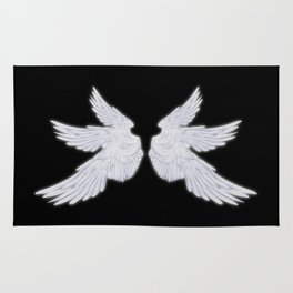White Archangel Wings Rug