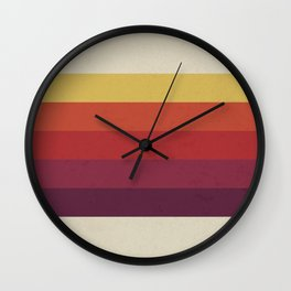 Retro Video Cassette Color Palette Wall Clock