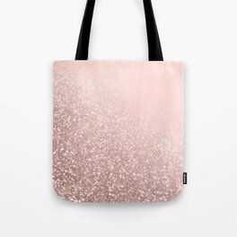 Rose Gold Sparkles on Pretty Blush Pink VI Tote Bag