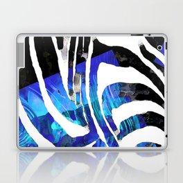Blue And Black Abstract Zebra Art - Sharon Cummings Laptop & iPad Skin