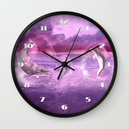 Dream Of Dolphins Wall Clock