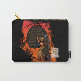 Afro Nerd Girl II (Orange) Carry-All Pouch