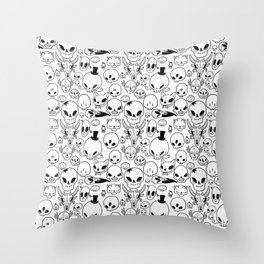 Skulls Throw Pillow