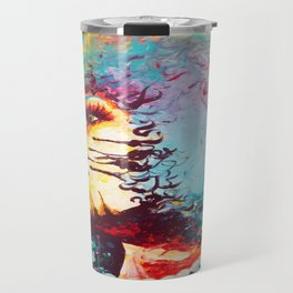 Unstrained Afro Blue Travel Mug