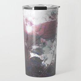 Abstract Botanical Art Rasberry Leaf sunset, raspberry Travel Mug