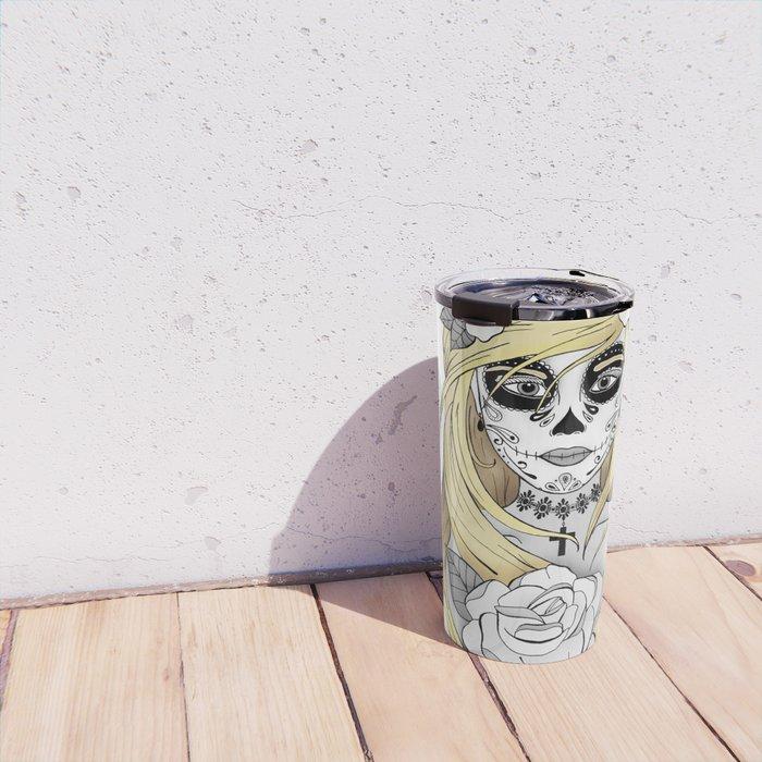Santa Muerte Blond Travel Mug