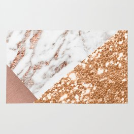 Layers of rose gold Rug