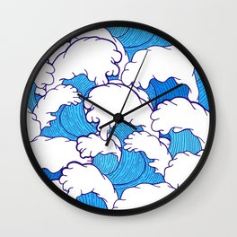 Waves of the high tide Wall Clock
