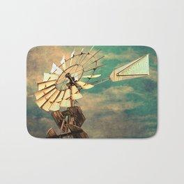 Rustic Windmill against Cloudy Sky A520 Bath Mat
