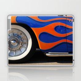 Chrome hubcaps, orange flames Laptop & iPad Skin