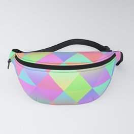 Colorful Geometric Pattern Prism Holographic Foil Triangle Texture Fanny Pack