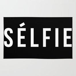 Selfie - version 2 - white Rug