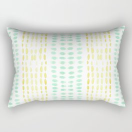 Striped dots and dashes Rectangular Pillow