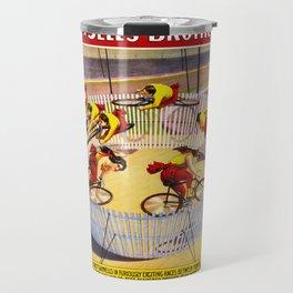 Vintage Bicycle Circus Act Travel Mug