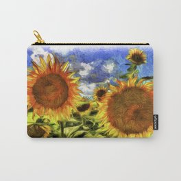 Sunflowers Vincent Van Goth Carry-All Pouch