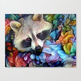 Peekaboo Raccoon Canvas Print