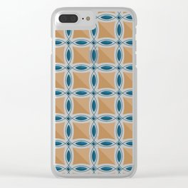 Circles with lens pattern and Diamond Clear iPhone Case