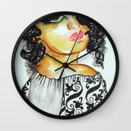Woman from Romania wearing a IE- traditional blouse  Wall Clock