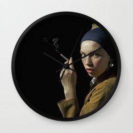 Girl with pearl earring - Ragazza col turbante Wall Clock