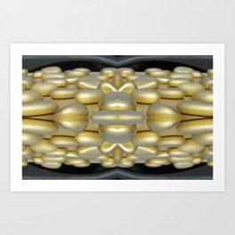 Gold Rocks Art Print