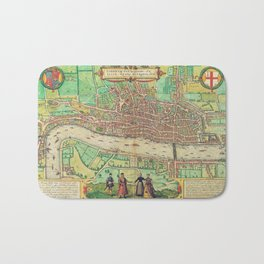 A Modern Map of London Bath Mat