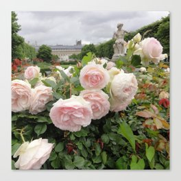 Paris Hidden Garden Roses Canvas Print
