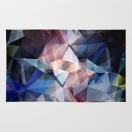Textured Triangle Abstract Rug