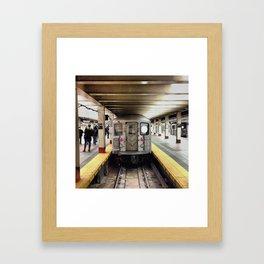 The First Train Framed Art Print