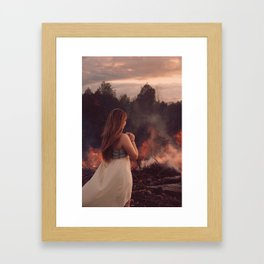 Play with Fire Framed Art Print
