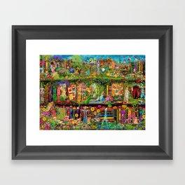 The Secret Garden Book Shelf Framed Art Print