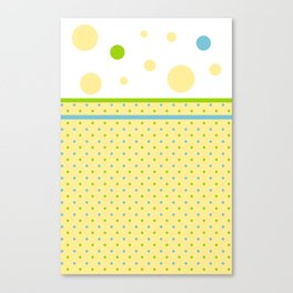 Yellow, With Dots Canvas Print