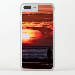 As the Sun goes down Clear iPhone Case