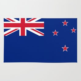 National flag of New Zealand - Authentic version to scale and color Rug