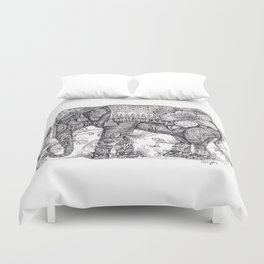 """Anesh the Creative Elephant"" Duvet Cover"