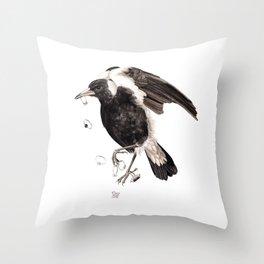 Magpie 2016 Throw Pillow