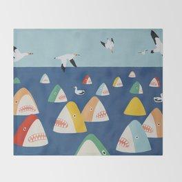 Shark Park Throw Blanket