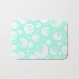 Snowballs-Light turquoise backgroud Bath Mat
