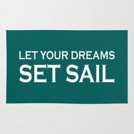 Let Your Dreams Set Sail (green) Rug