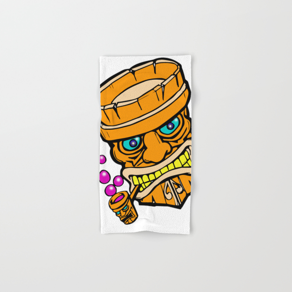 Mr Tiki The Bubble Blow'n Machine Hand Towel by Wichitacathedral BTL8501148