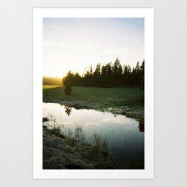 Sunset near Dillon Falls Art Print