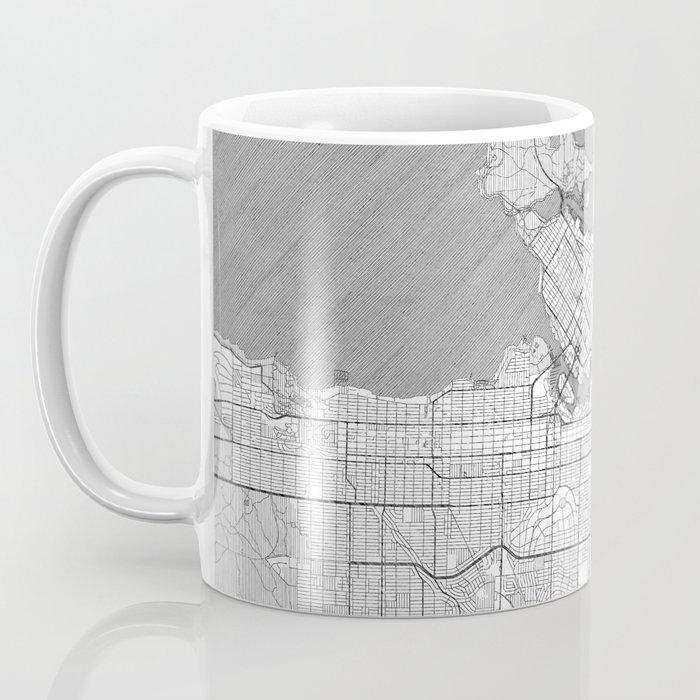 Vancouver Map Line Coffee Mug