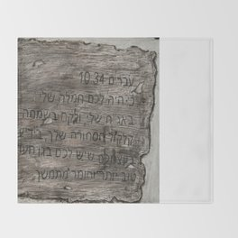 Hebrew 10:34 Throw Blanket