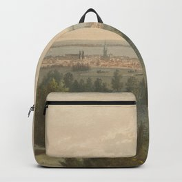 Vintage Pictorial View of Toronto Canada (1851) Backpack