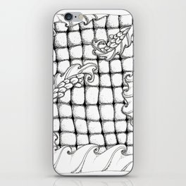 Dragon flowers iPhone Skin