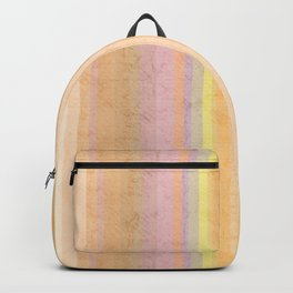 Multi-colored striped pattern .4 Backpack