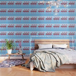 A Small Flock of Flamingos Wallpaper