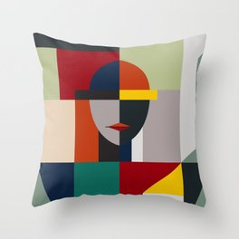 NAMELESS WOMAN Throw Pillow