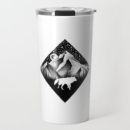 THE LONELY WOLF Travel Mug