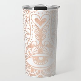 Copper Hamsa Hand Travel Mug