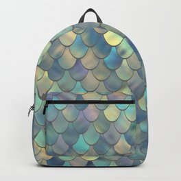 Mermaid Sea Shell Iridescent Backpack